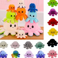 favor-New Reversible Flip Octopus Stuffed Toy Soft Animal Home Accessories Cute Doll Children Gifts Baby Companion Plush HH9-3655
