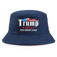 Trump 2024 Bucket Hat Fashion Unisex Summer Fisherman Cap Cotton Beach Sun Hat For Presidential General Election Newest Design 10 colors