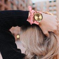 Doce menina pulseira relógio moda verão mulheres vestido flor pano design drop shopping reloc de moda dama wd3 relógios de pulso