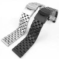 Watch Bands 18 20 22 24 26mm Accessories Strap FOR ALL Brands Replace Wrist Band Solid Stainless Steel Flat Mouth Bracelet