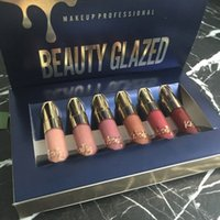 Belleza Gold Gold Cumpley Edition Lip Gloss 6pcs Set Original Cosmetics Mate Liquid Lipstick Lip-Gloss Lipgloss Kit