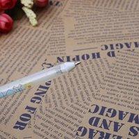 Gel Pens 1PC White Hook Liner Signature Marker Black Paper Highlighter Reviser 0.8mm WXTA