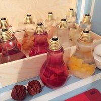 الشاي المصباح الكهرباء المصباح 400 مل 500 مل مع غطاء القش بيع الفاكهة ساخنة شرب زجاجة المشروبات متجر زجاجة استخدام الشاي الحليب 1434 v2