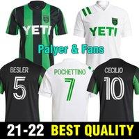 Versión de jugadores de fans 2021 2022 Cecilio Austin Jerseys de fútbol Anillo Besler Home Kit Black Green 21 22 Camisetas de fútbol Camisetas Fútbol Maillot de Foot
