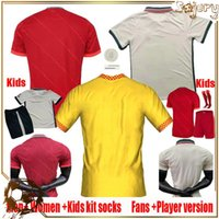 20 21 Jersey di calcio Top Thai fan Camicie da calcio Thailandia Club Team 2021 Uniformi di formazione Casa Red Away Yellow Shirt Player Versione