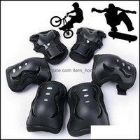 Dirsek Güvenlik Atletik Spor Outdoorselbow Diz Pedleri Açık Spor Paten Koruyucu Dişli Setleri 6 adet Bisiklet Bisiklet Kaykay ADT Kid DR