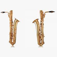 Top Calidad JBS1000 Baritone BRASS BRASS EB SAXOPHONE Dorado Lacado de la superficie Instrumentos de marca E Flat Sax con boquilla Caja de lienzo