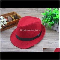 Caps Accessories Baby Maternity Drop Delivery 2021 Winter Cute Boys Girls Buckle Wollen Hats Family Cowboy Jazz Kids Children Bow Sunhat Sand