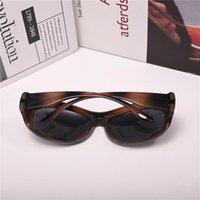 Sonnenbrille Vazrobe Männer Clip Polarisierte männliche Passform über Brillenrahmen Fahren Brille Winddicht Myopie Fahrer Braune Farbtöne