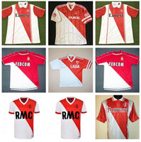 Nostalgie Retro Monaco Fussball Trikots 82 90 91 92 94 95 96 97 Tuybens Dalger Vintage als Ben Yedder Jovetic Golovin Flocage Jorge Football Hemd