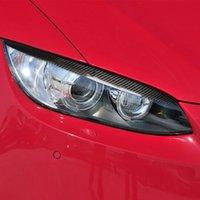 BMW E92 E93 2 도어 3 시리즈 라이트 아이 브로우 탄소 섬유 자동차 헤드 라이트 눈썹 속눈썹 수정 장식 액세서리에 적합