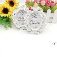 Parti Malzemeleri WhiteBlack Barok Resim / Fotoğraf Çerçevesi Yer Kart Sahibi Düğün Kral Duş, EWD6323 Şekeri