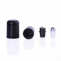2021 18 мм эфирным маслом роликовым стальным штекером шарикового штекера стали для 10 и 15 мл эфирных нефтяных бутылок. Утечки Устойчивые роликовые вершины с крышкой портативный