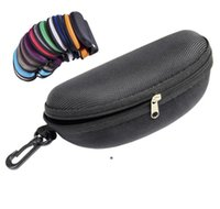 15 colors Sunglasses Case Eyeglasses Box Glasses Bag Eyeglasses Carry Box Sunglass Portable Zipper Hook Hard Holder Sunglasses HHF6756