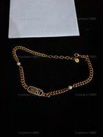 Dior necklace do en oro de acero inoxidable 3mm Cadena de cuerda torcida de 3 mm Collar de gargantilla para mujer para hombres Regalo de joyería de Hiphop a granel