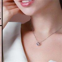Quadratische Anhänger für Halskette Charms für Schmuck Mode Weibliche Liebesfenster Magic Cube Halsketten Ornamente Geschenk 1 7TM K2B ZHL245