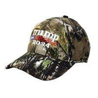 Camouflage Trump 2024 Ball Hat Snapback Baseball Caps For Man Woman US Flag MAGA Summer Sun Visor