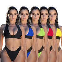 Summer clothing sexy Women 2 piece sets swimwear backless bras bikinis beach wear XL Designers fashion casual bathing suits DHL 4757