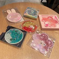 New Quicksand Cartoon Rabbit Coasters PVC Cup Drink Coffee Cup Mat Easy to Clean Placemats Round Tea Pad Table Pad Holder