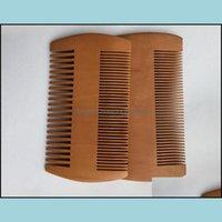 Pinceaux outils de coiffage outils Pocket Bois Bard peigne Double côtés Super étroites épaisses Bois peignants Pente Madère Madeira poux Outil de cheveux de compagnie d