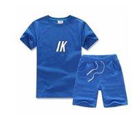 Abbigliamento per neonato Set di abbigliamento a maniche corte Pantaloni T-shirt Due-Pot 2-7 anni Bambini Bambini 2pcs Sport in cotone per bambini