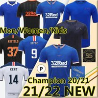 Champions 55 20/21 Glasgow Rangers Trikot des Fußballs Retro Champion Version Fussball Jerseys Defoe Hagi Morelos Kent Stewart Männer Frauen Kinder kits Trikots für Fußball