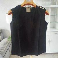 Mode Summer Women T-shirt T-shirt T-shirt Sans manches Coton confortable Haut Haute Qualité Femme Vêtements S-XL