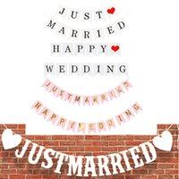 Je viens de marier joyeux anniversaire Bannière Banner Lettre suspendu Guirlands Pastel String Drapeaux Baby Douche Fête Decor de mariage GWF7009