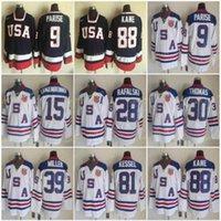2010 USA Hockey Jerseys 88 Patrick Kane Phil Kessel 9 Zach Parise 28 Brian Rafalski 39 Ryan Miller 15 Jamie Langenbrunner Tim Thomas weiß