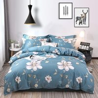 Bedding Sets Nordic Simple Jacquard Quilt Cover Bed Sheet Dormitory Four-Piece Queen Set With Fitted
