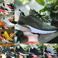 Nike Air Max 270 shoes New airmax Vapormax 270 Vendre 2021 27C Bred Platinum Tint Hommes Femmes Chaussures de course Blanc Black Dusty Dusty Cactus 27cs Tiger Olive Blue Blue