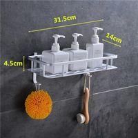 Bathroom Wall Shelves Estantes Esquineros Para Cocina Gadgets Mounted Type Bolt Inserting Aluminum Alloy