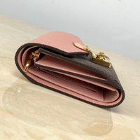 PJUNLG5568 Designer Mulheres Couro Couro Carteira Slim Macho Bolsas Dinheiro Clipe Cartão de Crédito Carteiras de Luxo com Box M67478