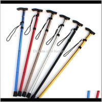 Poles Stick Hiking Trekking Trail Ultralight 4Section Adjustable Canes Aluminum Alloy Folding Cane Walking Sticks Sc060 Opbng Qjnfg