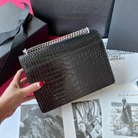 Fashion Women Leather bag Shoulder Handbag Purse Original box cross body messenger chain lady bags handbags designer alligator