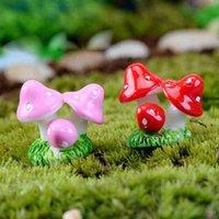 Altri forniture da giardino 100pcs Mini Resina Fungo Fungo Ornamento Miniature Pianta Pentole Fiasta FAI DA TE Dollhouse FREE 8L3U
