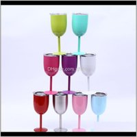 And Camping Hiking Sports & Outdoorsstainless Steel Wine Glass 10Oz Drinking Cups Champagne Goblet Barware Kitchen Tools Party Supplies Outd