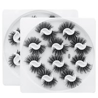 Hand Made Reusable 3D Fake Eyelashes Extensions Soft & Vivid Thick Natural Curly 10 Pairs False Lashes Set Messy Crisscross Eyes Makeup For Women Beauty
