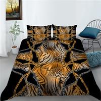 King Size Gold Bedging Set Комплект роскошных Подортное покрытие 2/3 шт. Уникальные дизайнерские комплекты кровати, выведите модную броску