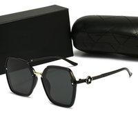 Luxus Frauen Outdoor Mode Sonnenbrille Schild UV Polarisation Adumbral Vintage Designer Sonnenbrille Hohe Qualität Damenbrillen mit Fallkasten