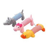 Cute Dog Toy Pet Puppy Plush Sound Chew Squeaker Squeaky Pig Elephant Duck Toys Lovely Pets play thing 25cm