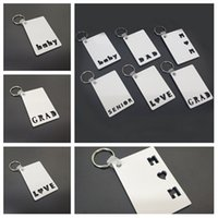 Sublimation Blank Keychain Party Favor MOM DAD LOVE SENIOR GRAD BABY MDF Wooden Key Chain Pendant Thermal Transfer Key Ring T2I52060