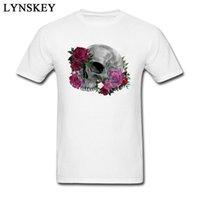 CCCCSPORT2018 Son Çiçek Kafatası Baskı T Shirt Erkekler Için Üzgünüz Kafatası Yetişkin Tshirt Satışa Serin Tasarım Hip Hop T-Shirt Tops