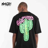 Nagri Fashion Travis Scott Tour à manches courtes Cactus Net Kanye Kanye West Hommes et T-shirt lâche pour femmes