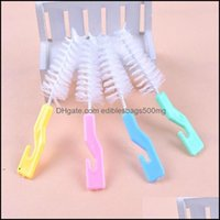 Other Kitchen, Dining Bar Home & Gardensile Cleaning Brush Tools For Baby Milk Bottle Cup With Hook Nipple Feeding Water Cups Brushes Owb728