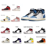 Jumpman 1 Классический высококачественный ретро высокий бесстрашный UNC Chicago Баскетбольные туфли Мужчины и женщины Черный Носок Royal og Огибные кроссовки