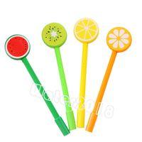 Фруктовые шариковые ручки креативные гель мультфильм шариковых ручек фрукты и овощная форма 4 цвета