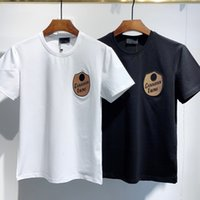 2021 Moda Icon Designer Erkek Kadın T Gömlek # DT050 Kapalı Yaz Klasik Akçaağaç Yaprak Tees Essentials Beyaz Harfler Baskı Rahat Giyim