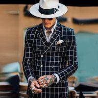 الكلاسيكية أحدث معطف بانت تصاميم مزدوجة الصدر الرجال الدعاوى عارضة يتأهل الزفاف السترة الأسود الاختيار منقوشة البدلات الرسمية سترة الحلل
