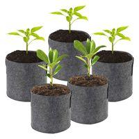 Criativo Multi-Size Home Quintal Espessado Não-tecido Crescimento de Crescimento de Plantas Respirável Tanque de Auto Autória Refradável Atacado